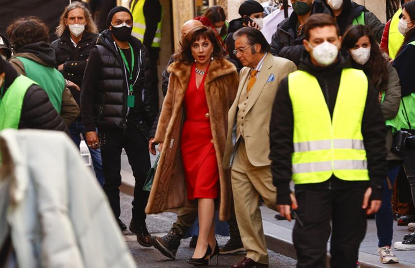 Lady Gaga e Al Pacino a Roma per le riprese di House of Gucci