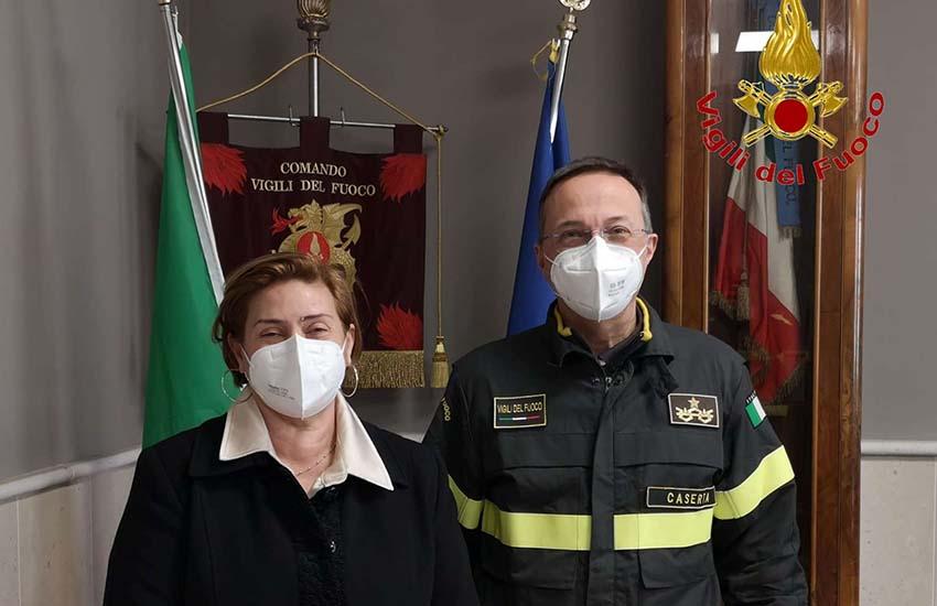 Passaggio di consegne al Comando Provinciale dei Vigili del Fuoco di Caserta
