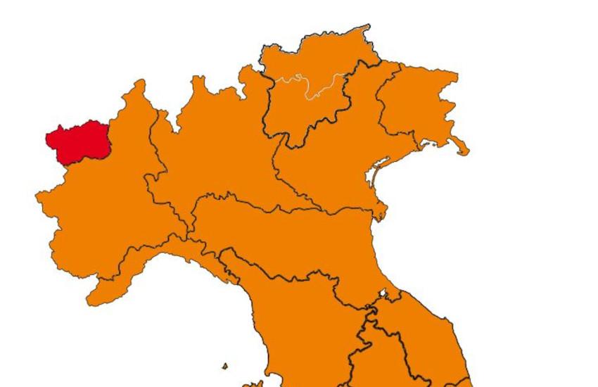 Piemonte in zona arancione: ecco cosa cambia da lunedì 12