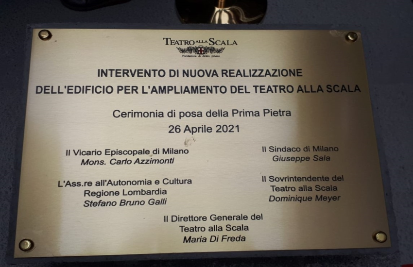 Teatro alla Scala: Galli, 'Posa prima pietra forte significato simbolico'