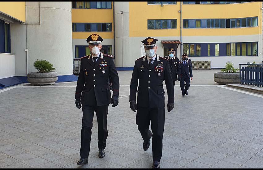 Il Generale Maurizio Detalmo in visita ad Avellino nel rispetto delle norme anti-covid