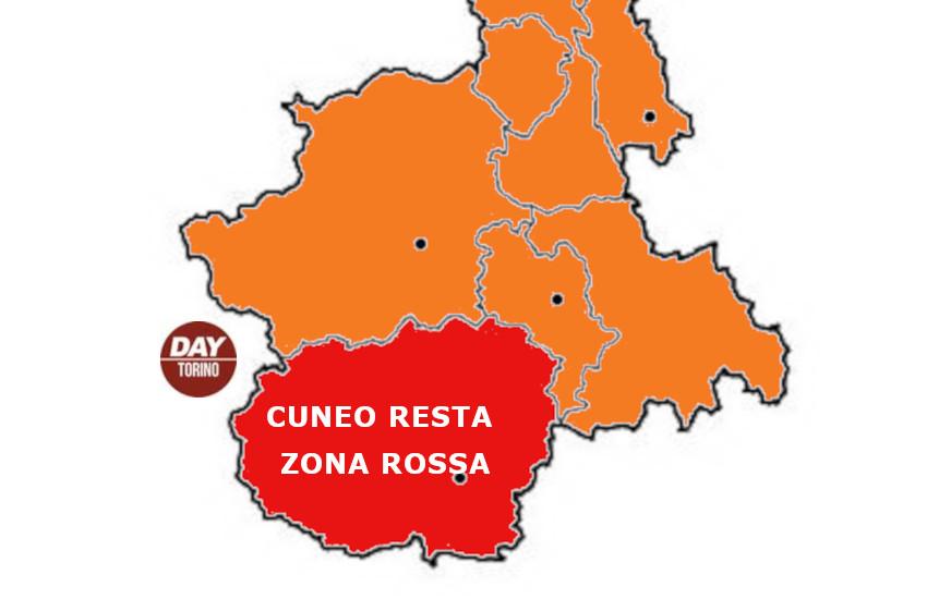 Incidenza elevata, Cuneo resta in zona rossa