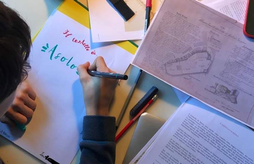 Zeno, 11 anni, di Roma, contatta l'Ufficio turistico di Asolo per una ricerca sul Castello di Caterina Cornaro