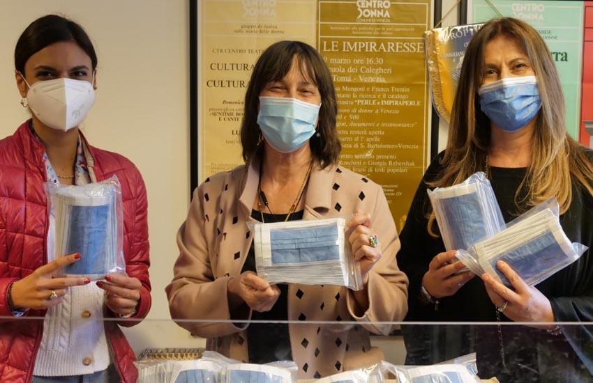 Il Centro antiviolenza del Comune di Venezia riceve 2400 mascherine anti Covid in beneficenza