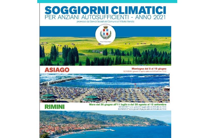 Vittorio Veneto, al via le iscrizioni per i soggiorni climatici 2021