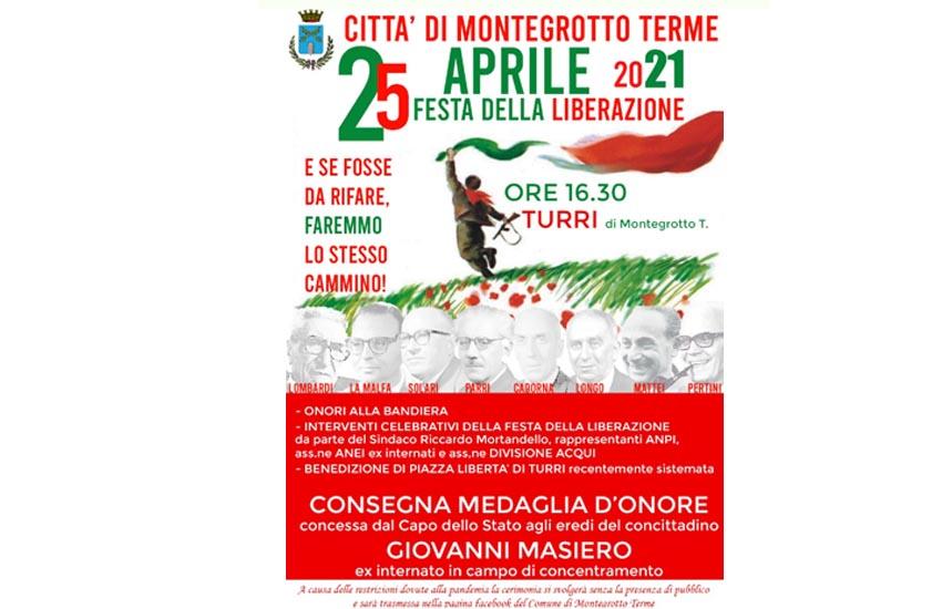 25 aprile: Montegrotto festeggia la Liberazione in piazza Libertà a Turri
