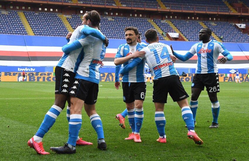 Napoli batte 2-0 la Sampdoria