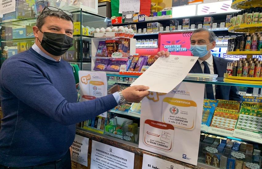 Milano: Tabaccherie potranno rilasciare certificati comunali