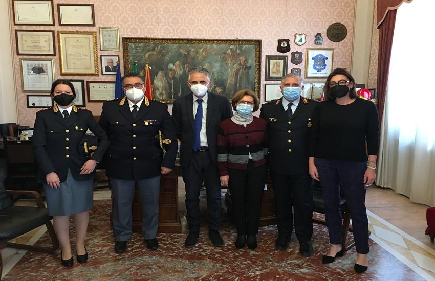 Modica: il nuovo Commissario di Polizia in visita a Palazzo San Domenico
