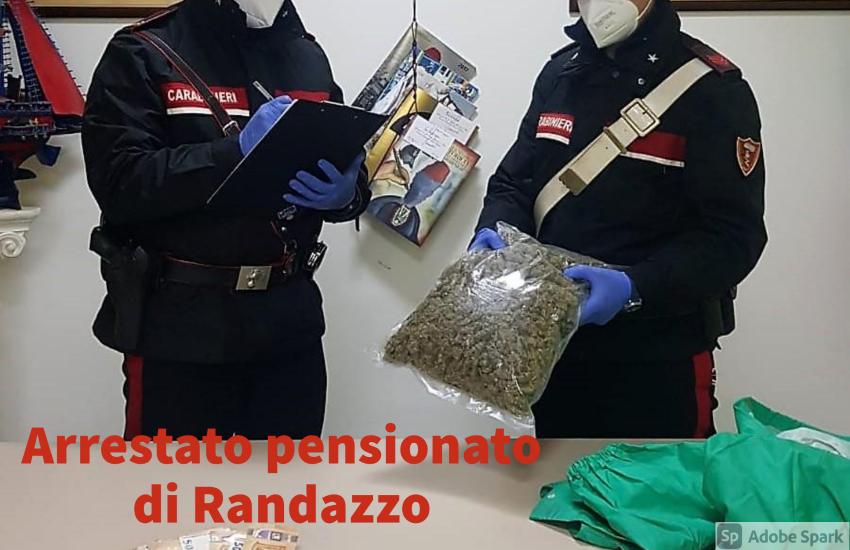 Randazzo: pensionato con 1 Kg di marijuana in auto. Arrestato