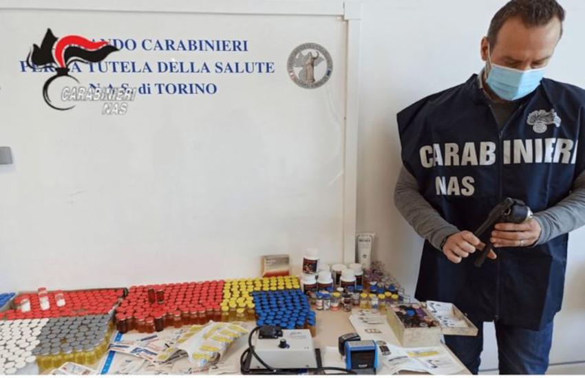 Piossasco, scoperto un laboratorio clandestino di farmaci dopanti