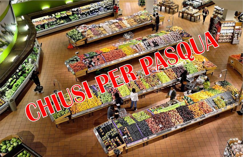 Pasqua - lockdown - supermercati