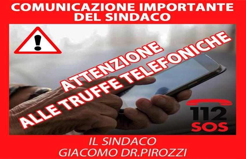 """Anziani di Calvizzano nel mirino dei truffatori, l'appello del sindaco Pirozzi: """"Attenzione alle truffe telefoniche"""""""