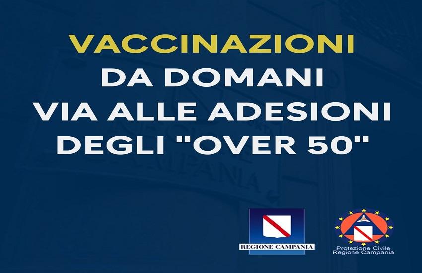Vaccinazioni over 50, al via da domani le prenotazioni