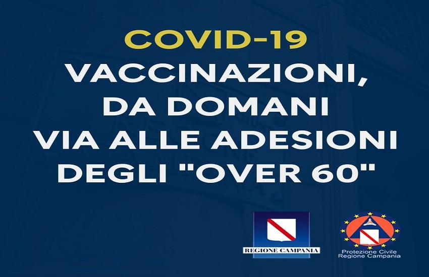 Vaccinazioni over 60, piattaforma Regione Campania attiva da domani