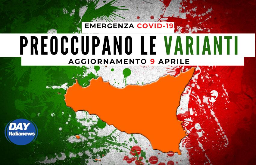 """Covid 9 aprile, impennata di contagi. Le varianti fanno paura: tutta la provincia di Palermo """"Zona Rossa"""""""