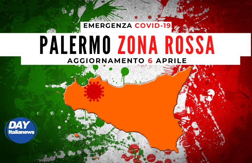 """Covid 6 aprile, lieve calo dei contagi ma Palermo """"Zona Rossa"""""""