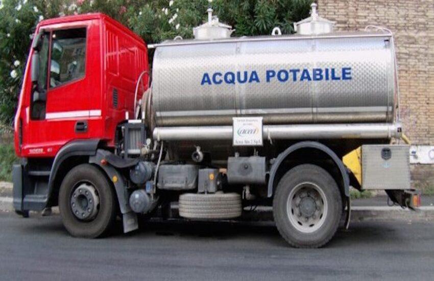 Ragusa, attivata autobotte per i problemi idrici in centro