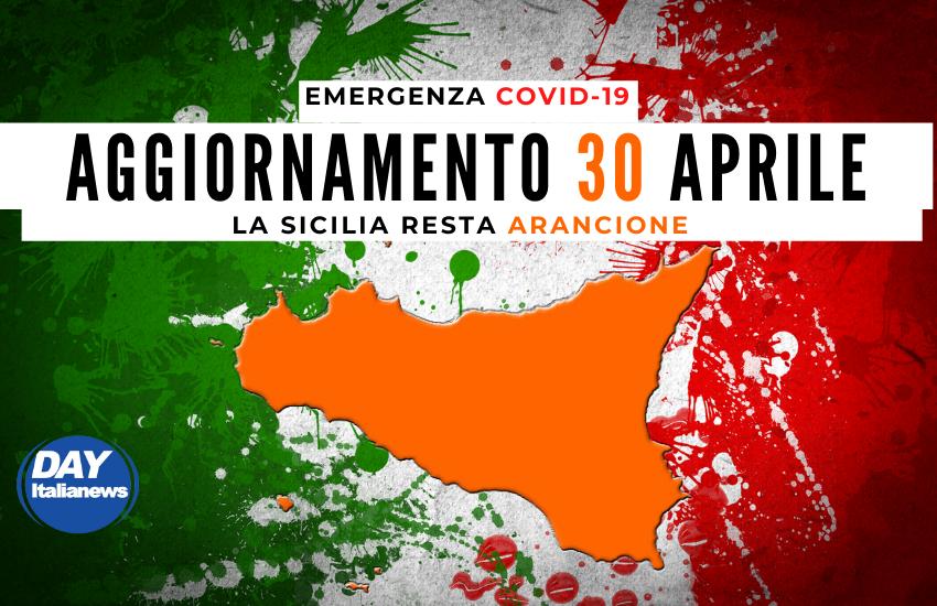 Covid 30 aprile, contagi in discesa. La Sicilia resta Arancione; altri 3 Comuni in Zona Rossa