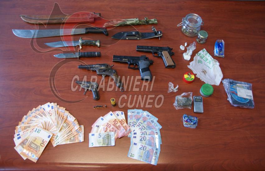 Spaccio e armi: doppio arresto nel Cuneese