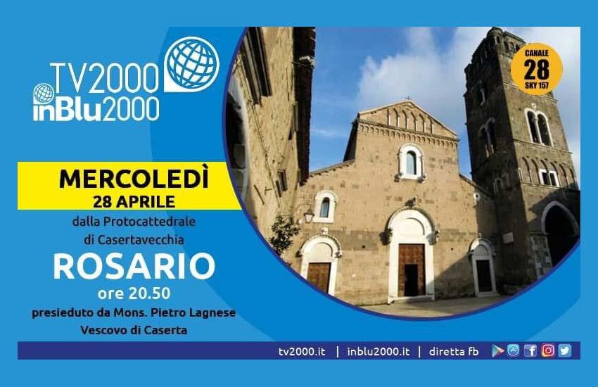 TV2000, in pellegrinaggio con il Rosario: mercoledì 28 dal Duomo di Casertavecchia