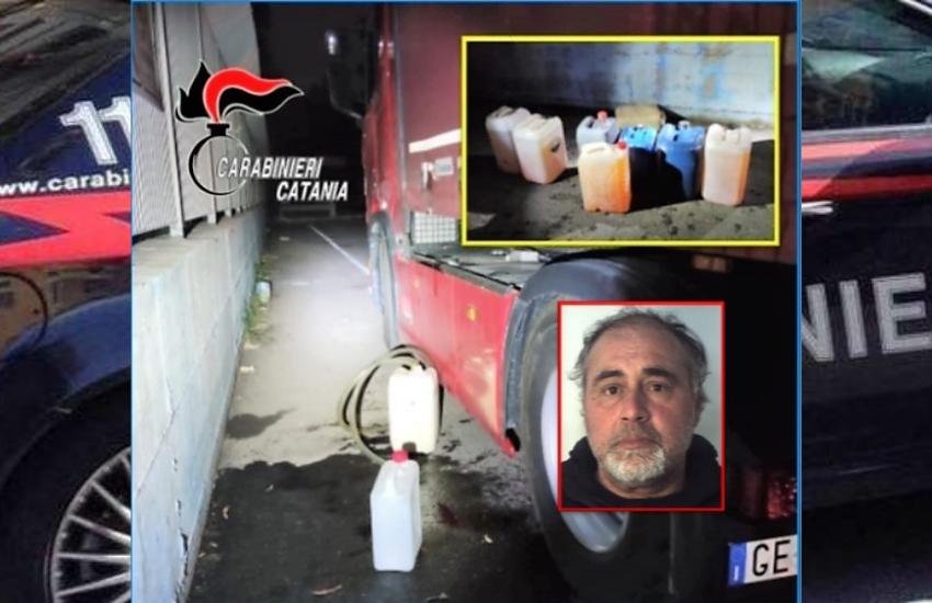 Catania, rifornimento fai da te, arrestato mentre ruba 200 litri di gasolio