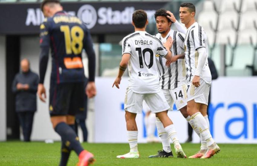Juventus-Genoa: allo Stadium finisce 3-1