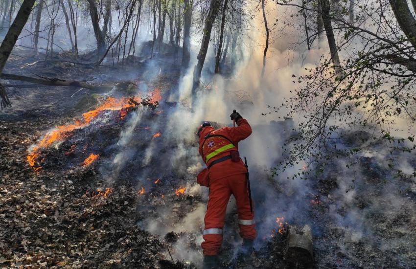 Incendio in Val di Susa: bruciano i boschi di Chiusa di San Michele