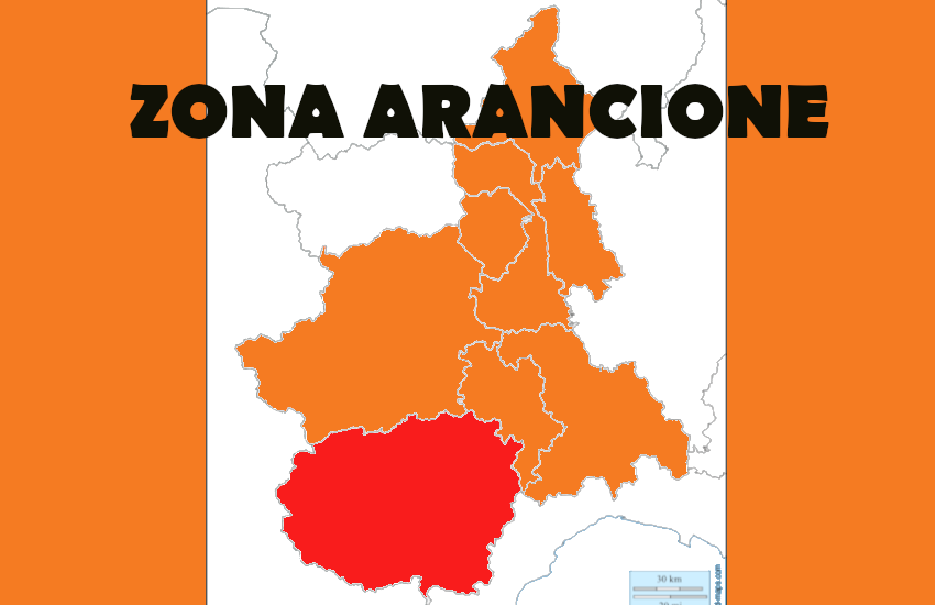 Torino arancione da lunedì 12, Cuneo rossa fino al 14