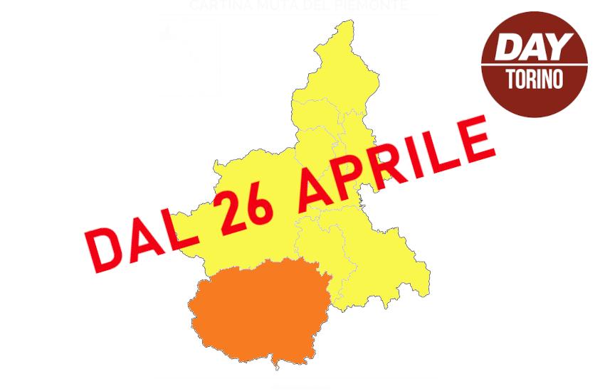 26 aprile, zona gialla in Piemonte, ma Cuneo resta arancione
