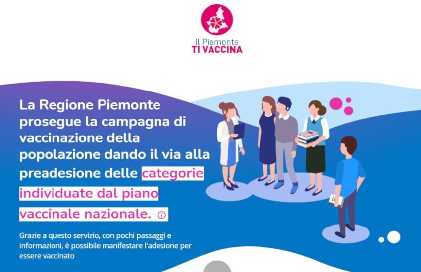Piemonte, Enti locali in supporto alla campagna vaccinale