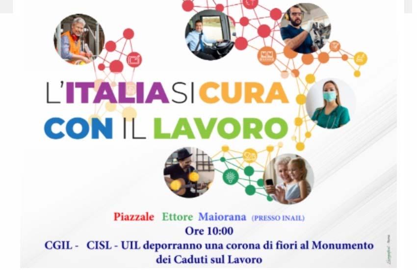 """Primo Maggio a Caserta: """"L'Italia si cura con il lavoro"""": lo slogan dei sindacati in piazza"""