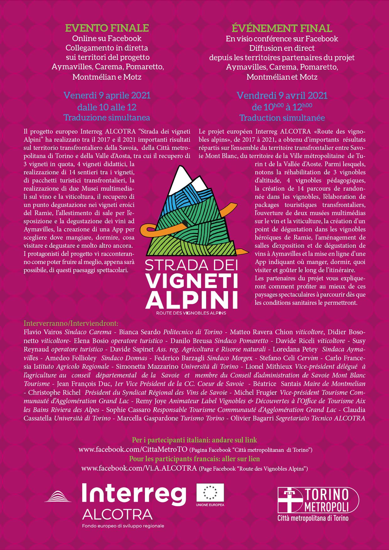 Strada vigneti alpini -  evento conclusivo
