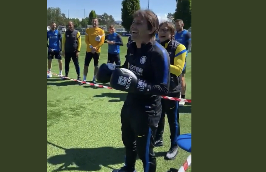 Inter: Conte-Lautaro, dal battibecco all'incontro di boxe – Video