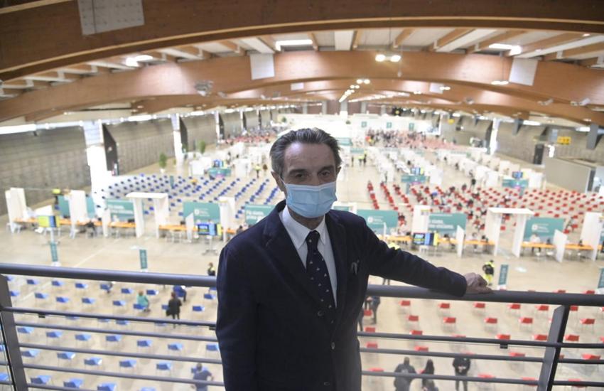 Lombardia: Fontana, 'Con più dosi finiremmo vaccinazioni in anticipo'