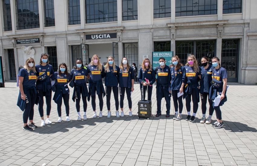 Volley: Vaccinate a Milano le pallavoliste della nazionale