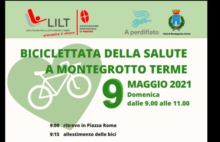 Montegrotto Terme, domenica 9 biciclettata della salute