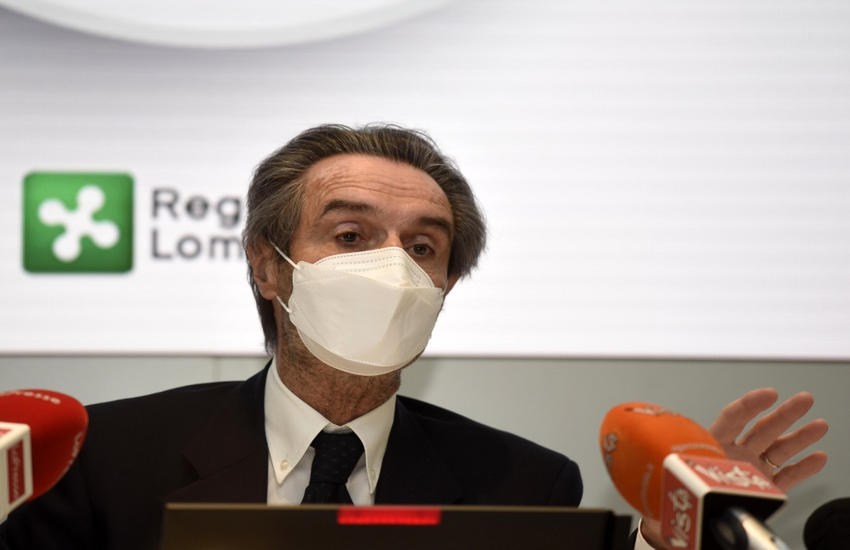 Lombardia resta gialla: Fontana, 'Comportiamoci responsabilmente'