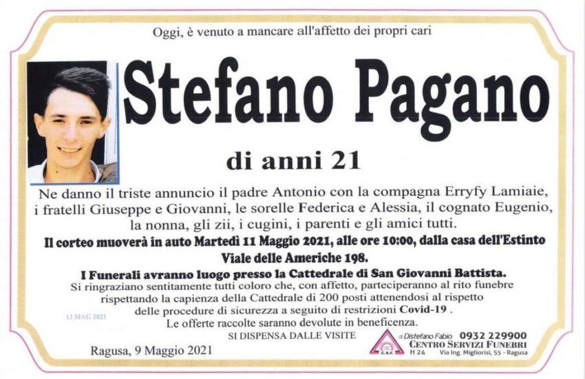 Ciao Stefano: stamattina i funerali del 21enne morto a Ragusa