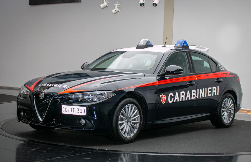 Carabinieri, presentata a Torino la nuova Giulia Radiomobile