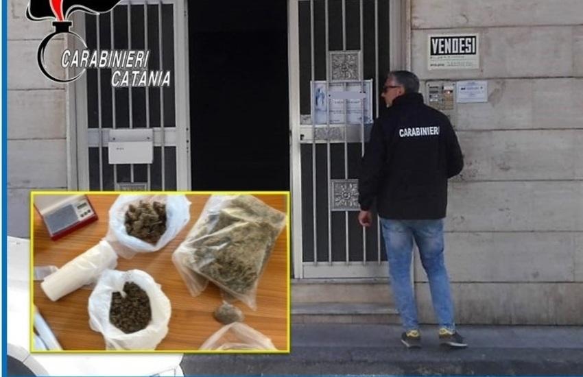 Belpasso, nascondeva più di 550 grammi di droga in casa, arrestato