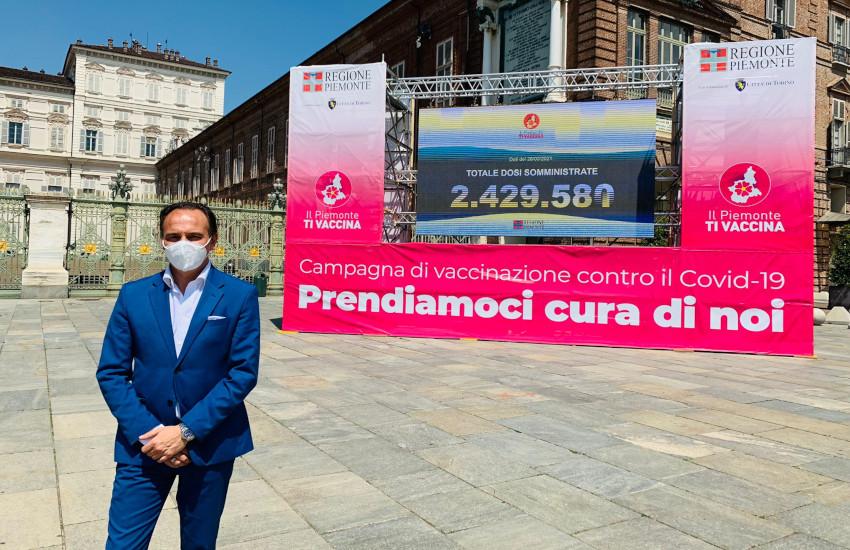 Piemonte, vaccini, ecco le novità: il Valentino diventa hub, contatore in piazza Castello e 40 testimonial