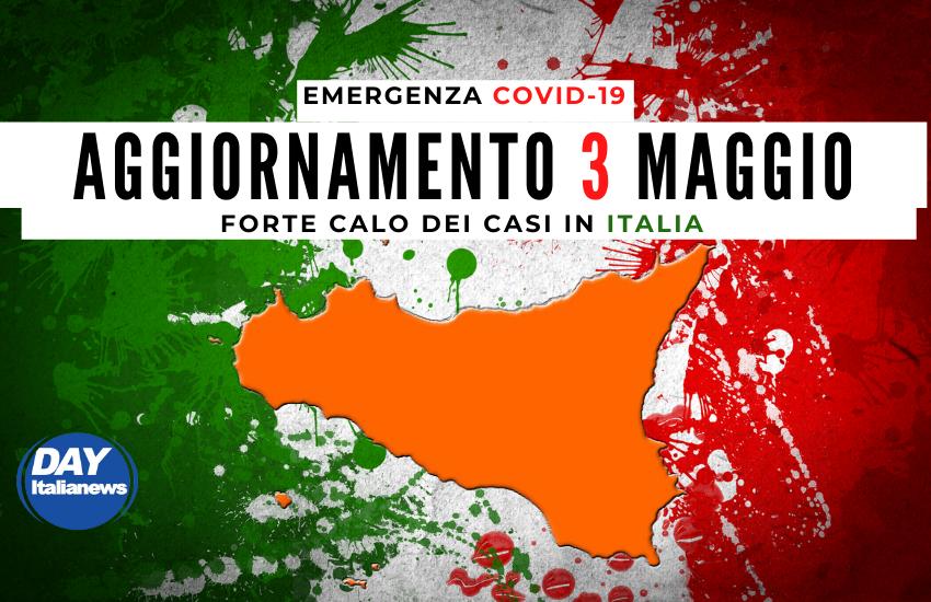 Covid 3 maggio, in Sicilia curva stabile. Forte calo dei casi in Italia