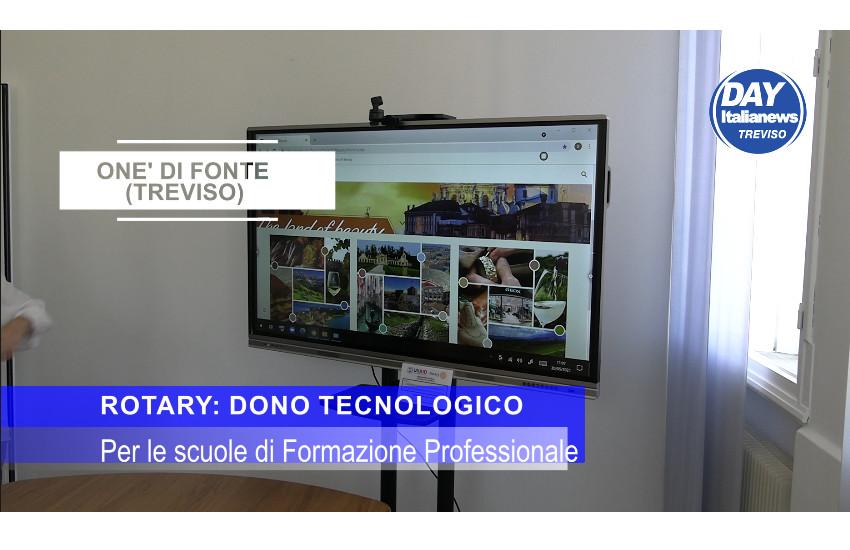Il dono tecnologico del Rotary alla Scuola di Formazione Professionale Opera Monte Grappa