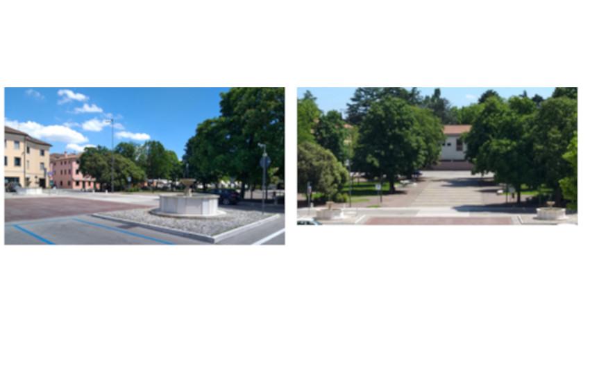 Tornano a splendere (e a funzionare) le fontane del centro di Montebelluna