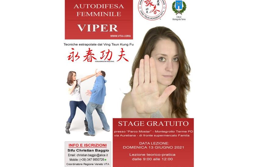 Autodifesa femminile: stage gratuito a Montegrotto Terme