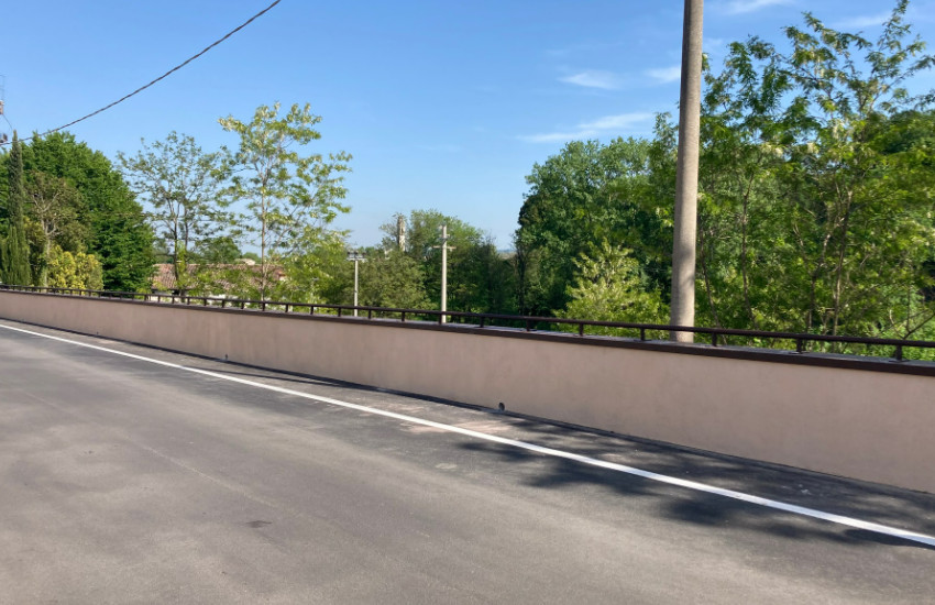 Pederobba, conclusi i lavori di messa in sicurezza del muro di via Curogna