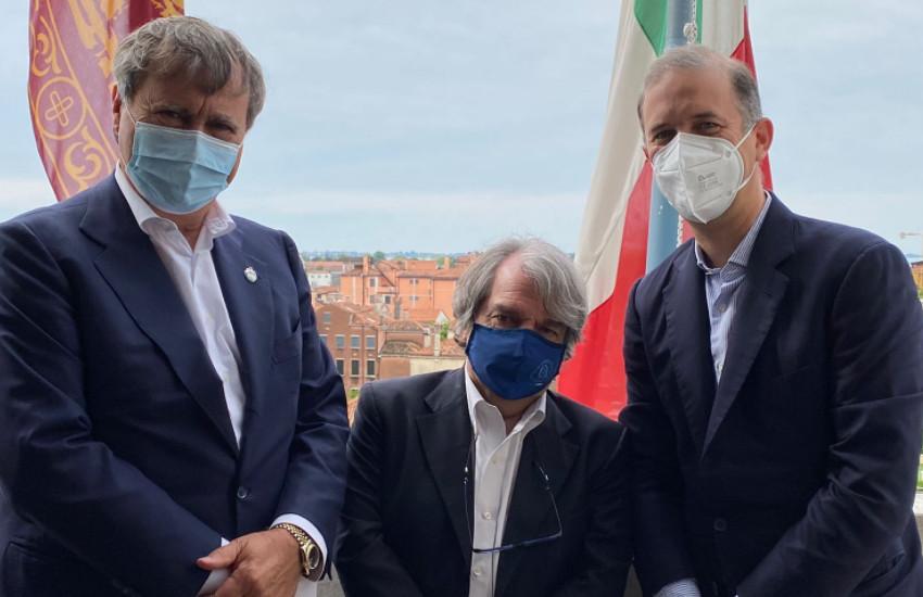 Venezia, il sindaco Brugnaro ha incontrato il ministro per la Pubblica amministrazione Brunetta. Confronto sulla città e sui progetti di sviluppo e crescita