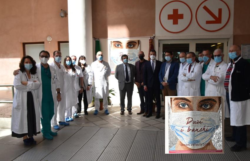Svelato all'Ospedale di Venezia un mosaico dedicato agli operatori sanitari