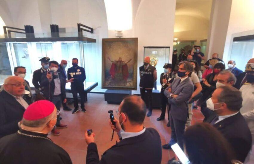 Reggio Calabria, dopo 101 anni rinvenuto un dipinto dedicato alla rinascita della città